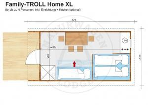 Naturwagen & Lodges - Grundriss Family-TROLL Home XL