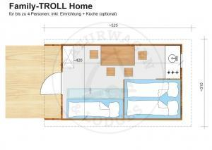 Naturwagen & Lodges - Grundriss Family-TROLL Home