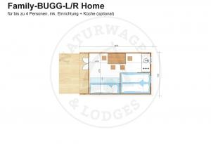 Foto - Naturwagen & Lodges, Grundriss - Family-BUGG-LR Home