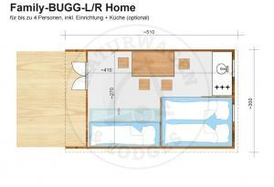Naturwagen & Lodges - Grundriss Family-BUGG-L/R Home